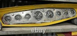 Vintage Style Stewart Warner Straight 8 Dash Instrument Gauge Panel Hotrod SCTA