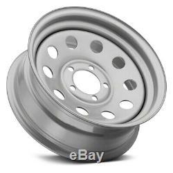 Vision HM70SM Wheels 15x6 (0, 5x114.3, 83.82) Silver Rims Set of 4