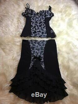 WHEELS & DOLLBABY 2 Pc Medium/small Set! Rare Pin Up Ruffle Satin Dress Luxury