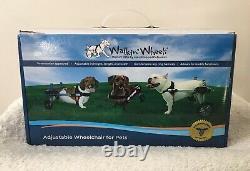 Walkin Wheels Adjustable Wheelchair Miniature Dachshund Blue Frame Complete Set