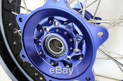 YAMAHA YZF250 YZF450 Supermoto wheel set and 320 MM front rotor 17 2009/2013