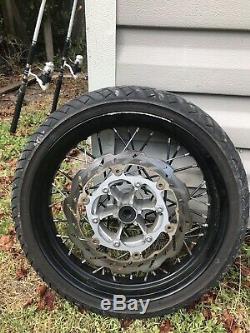 Yamaha WR250X Supermoto Wheels Tires Set SM WR 250x Front & Rear Rims