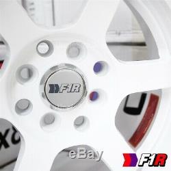 15 15x8 0 Offset 4x100 / 114.3 F1r F05 3lip 6 Rayon Blanc Tuner Roue 4