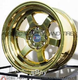 15x8 F1r F05 4x100 / 114,3 +0 Or Chrome Wheels (set Of 4)