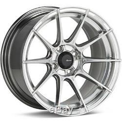 15x9 Advanti Course Tempête S1 4x100 35 Titanium Mirror Wheels (set Of 4)