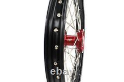 17 14 Kke Kid's Small Wheel Rim Set Fit Honda Cr80r 1993-2002 Cr85r 2003-2008