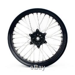 17 '' X 17 '' MX Black Wheel Roues Jantes Set Pour Suzuki Drz400 00-04 Drz 400 E S Sm