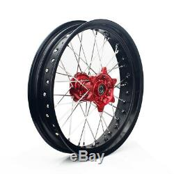 17 X 3.5 / 4.25 Complete Set Wheel Drive For Cush Suzuki Drz400sm 05-17 Drz400e / S