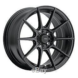 17x8 Advanti Racing 79b Tempête S1 Matte Black Wheels 5x100 (45mm) Jeu De 4