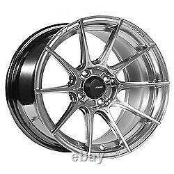 17x8 Advanti Racing 79s Storm S1 Hyper Silver Wheels 5x100 (35mm) Ensemble De 4