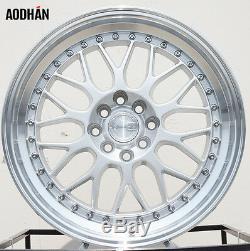 17x8 Aodhan Ah02 Roues 4x100 Et35 Pour Vw Golf Jetta Passat Jantes Set 4