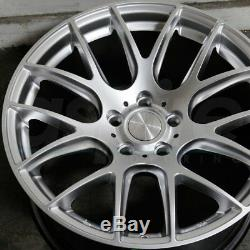 18 Esr Sr12 Jantes Argent 18x8.5 +35 Jantes 5x114.3 Pour Honda Acura Lexus Set 4