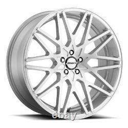 18x8 Shift H32 Formule 5x114.3 35 Silver Machine Wheels Rims Set(4) 73.1