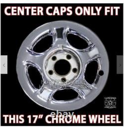 1997-2004 Ford Expédition F150 17 Chrome Wheel Center Hub Caps Couvertures D'écrous Lug