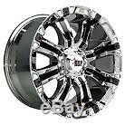 19x10.5 Centerline 670b Sm1 Rev 7 Satin Black Wheels 5x4.5 (45mm) Jeu De 4