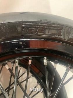 2008 Suzuki Drz400sm Pneus De Roue Rim Avant Dos Set Excel Portes Enrobées Pirelli