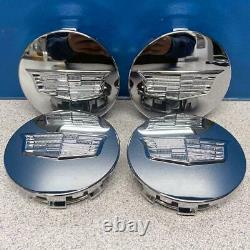 2015-2021 Cadillac Escalade Small 3 35/128 Chrome Center Caps # 23491795 Ensemble/4