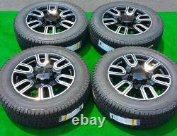 2021 Usine Gmc Sierra Black Wheels Pneus 2500hd At Set New Oem Gm 20 Goodyear