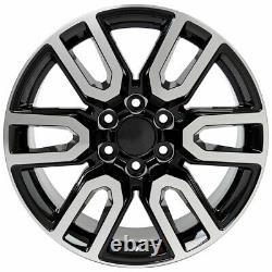20 5914 Roues Noir & Mach'd 275 / 55-20 Pneus, Tpms Set Fits Silverado At4 20x9