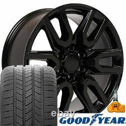 20 5914 Roues, Pneus, Tpms Set Convient Chevy Et Gmc At4 Noir 20x9