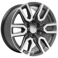 20 5914 Roues, Pneus, Tpms Set Convient Chevy & Gmc At4 Gunmetal Usiné 20x9