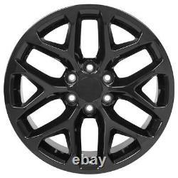 20 Black 5668 Roues Goodyear Pneus Tpms Set Convient À Silverado Tahoe Cv98 20x9