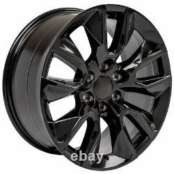 20 Black 5916 Roues, Pneus Goodyear Tpms Set (4) S'adapte À La Nouvelle Silverado Sierra