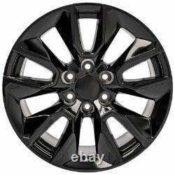20 In 23377015 Pneus De Roue Et Gy Set Convient 2019 Chevy Silverado Cv32 Noir Brillant
