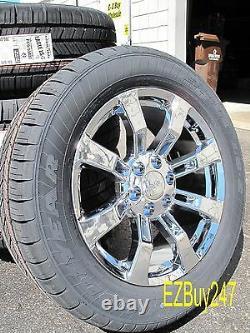 20 Nouveau Jeu Gmc Chevrolet Escalade Factory Chrome Roues Pneus Goodyear 5409