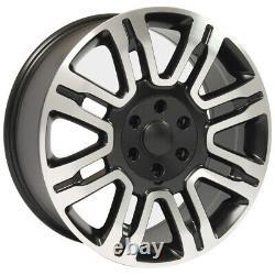 20 Pneus De Roue Set Fit Ford Style Expédition Jantes Noir Mach'd 3788 Pneus Gy