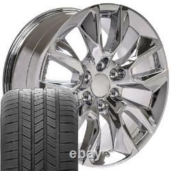 20 Pouces Chrome 5916 Roues Et Pneus Goodyear Set Fit Gmc Sierra Yukon 2337622