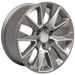 20 Silver Machined 5919 Roues Et Pneus Goodyear Set Convient Yukon Sierra 20x9