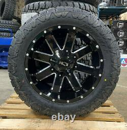 20x10 Ion 141 33 Amp At Black Wheel Tire Set Package 8x170 Ford Super Duty F250