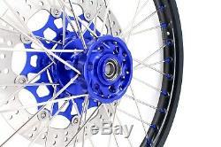 21/18 Enduro Kke Jantes Set Suzuki Drz400sm 2005 310mm Disque Bleu Titiller