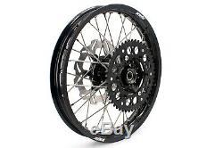 21 18 Enduro Kke Wheel Set Suzuki Drz400sm 2005-2018 Balck Rim Hub Disques