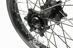 21/18 Enduro Roues Set Pour Suzuki Drz400 2000-2004 400sm 2005-2019 Hub Titanium