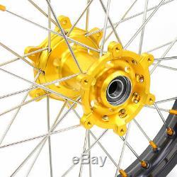 21/18 Pour Les Roues Suzuki Drz400 Drz400s Drz400e Drz400e Enduro Jantes Goldnip