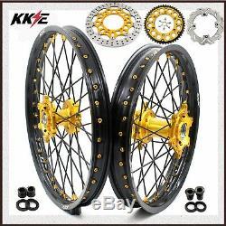 21/19 MX Kke Jantes Set Pour Suzuki Drz400sm 2005-2019 310mm / 240mm Disc