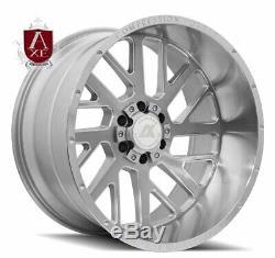 22x10 Ax Ax2.1 6x5.5 6x135 -19 Argent Brossé Roues Jantes Set (4) Chevy Ford