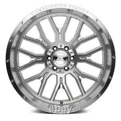 22x12 Axe Ax6.1 6x127/6x139.7 -44 Silver Brush Milled Wheels Rims Set(4) 87,1