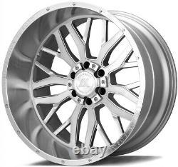 22x14 Axe Ax1.1 8x180 -76 Silver Brush Milled Wheels Rims Set(4) 125,2