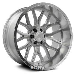 26x14 Axe Ax6.1 8x170 -76 Silver Brush Milled Wheels Rims Set(4) 125,2