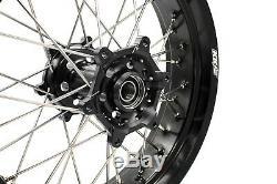 3.5 / 4.2517 Fit Suzuki Drz400 Drz400e / S Drz400sm Supermoto Jantes Jantes Set Noir