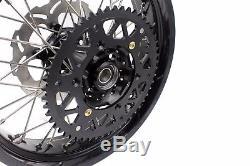 3.5 / 4.2517 Fit Suzuki Drz400sm 2005-2018 Jantes Supermoto Motard Jantes Set Noir