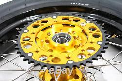 3.5 Kke / 4,2517 Supermoto Jantes Set Cst Pneus Fit Suzuki Drz400sm 2005-2019