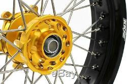 3,5 Kke / 4.25 Supermoto Roues De Jantes Pour Suzuki Drz400sm Drz400s Drz400 Drz400e