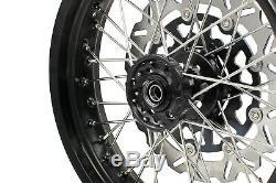 3.5 Kke / 5,017 Fit Suzuki Drz400sm Supermoto Motard Jantes Set Noir Disc