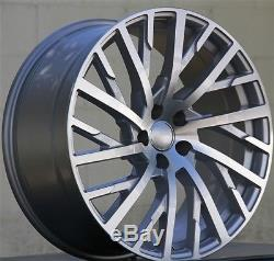 (4) Set 20 Roues Et30 20x9 5x112 Pour Audi A6 Rs6 A7 S7 Rs7 A8 Q5 Sq5 Q7 S8 A8l