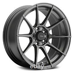 Advanti Racing Storm S1 Wheels 15x8 (25, 4x100, 73.1) Jantes Grises Ensemble De 4