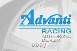 Advanti Racing Storm S1 Wheels 15x9 (35, 4x100, 73.1) Black Rims Set Of 4